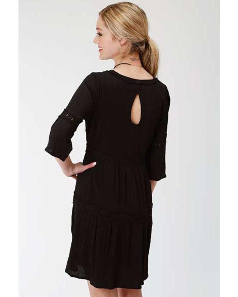 Stetson Women's Black Bell Sleeve Dress, Black, hi-res
