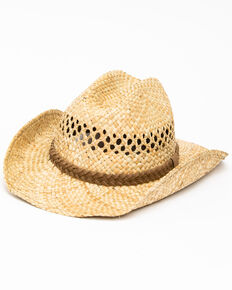 Cody James Men's Fashion Seacress West Western Straw Hat , No Color, hi-res