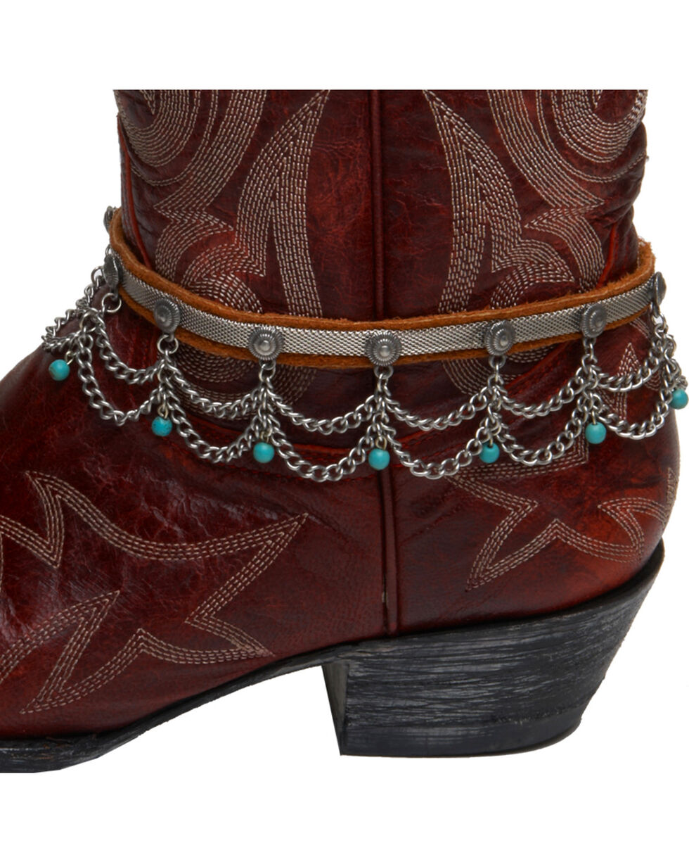 Cowgirl Confetti by AndWest Chain & Turquoise Bead Boot Chain/Choker, Multi, hi-res