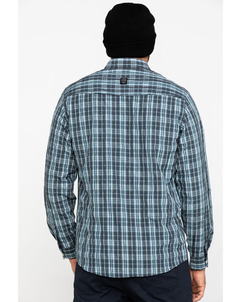 Wrangler All-Terrain Men's Grey Plaid Solid Long Sleeve Western Shirt , Grey, hi-res