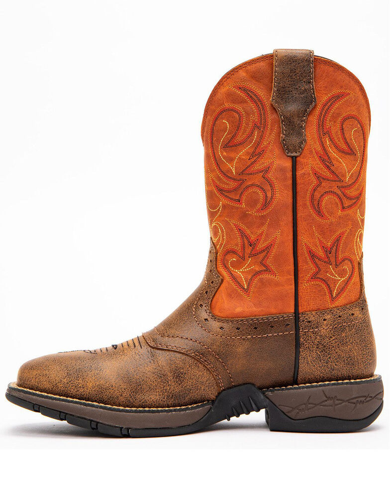 Cody James Men's Nano Lite Western Work Boots - Nano Composite Toe, Orange, hi-res