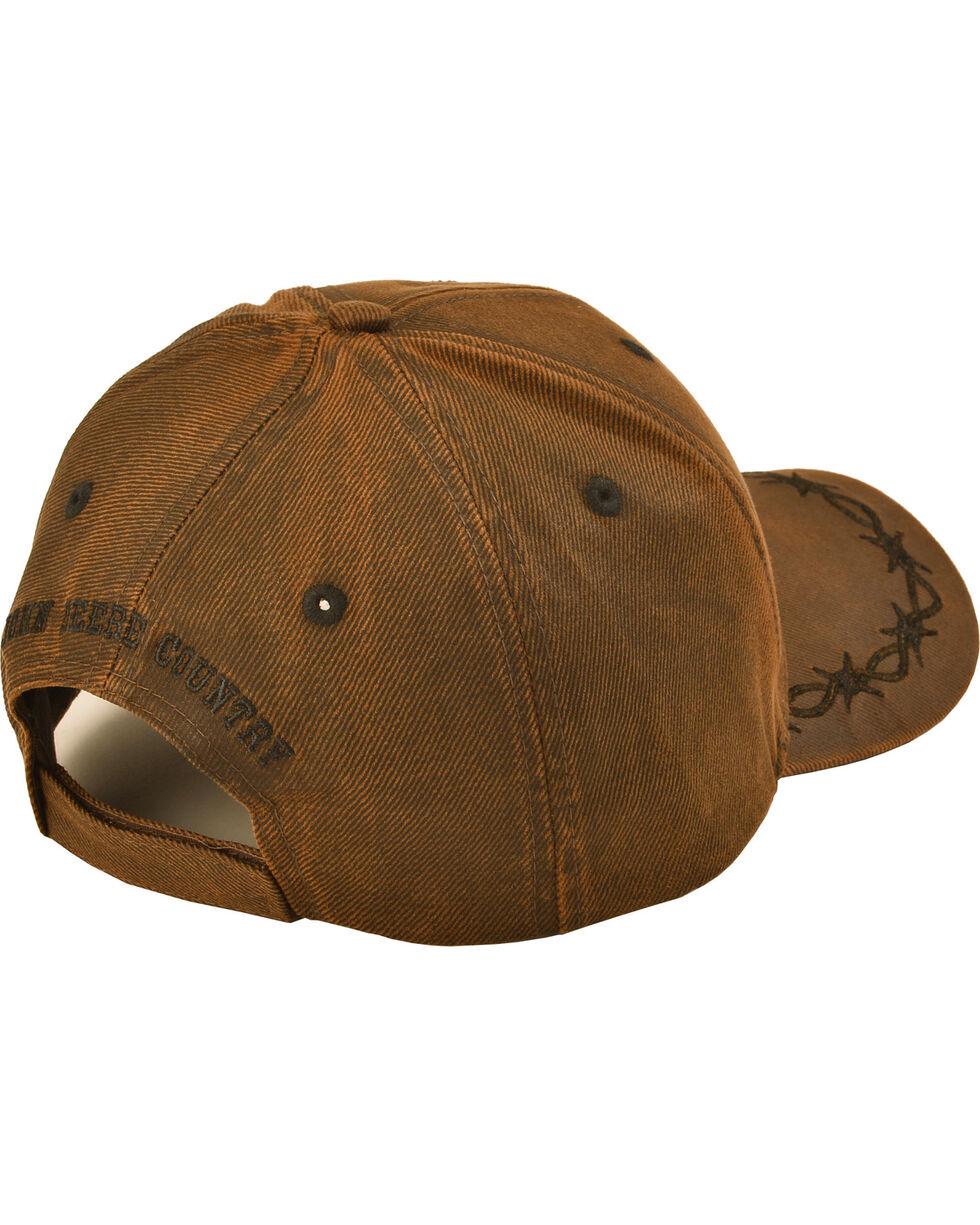 John Deere Embroided Barbwire Logo Ball Cap, Brown, hi-res