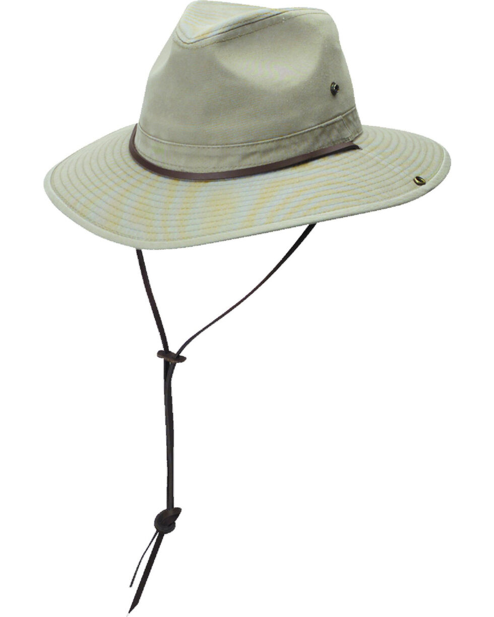 DPC Authentic Khaki Safari Hat with Side Snaps, Khaki, hi-res