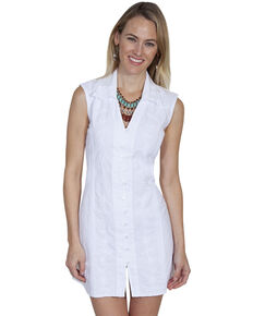 Cantina by Scully Women's White Button Down Dress, White, hi-res