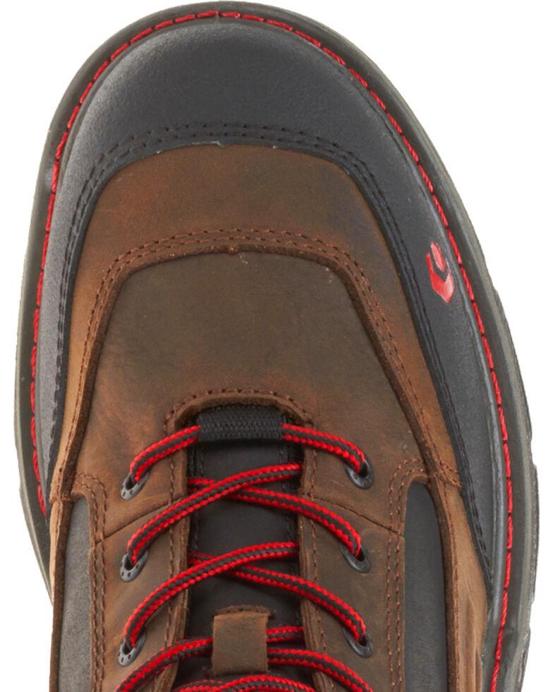 """Wolverine Men's Brown Overman Waterproof Carbonmax 6"""" Work Boots - Round Toe, Black/brown, hi-res"""
