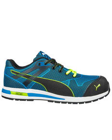 Puma Men's Blue Blaze EH Low Work Shoes - Composite Toe , Blue, hi-res