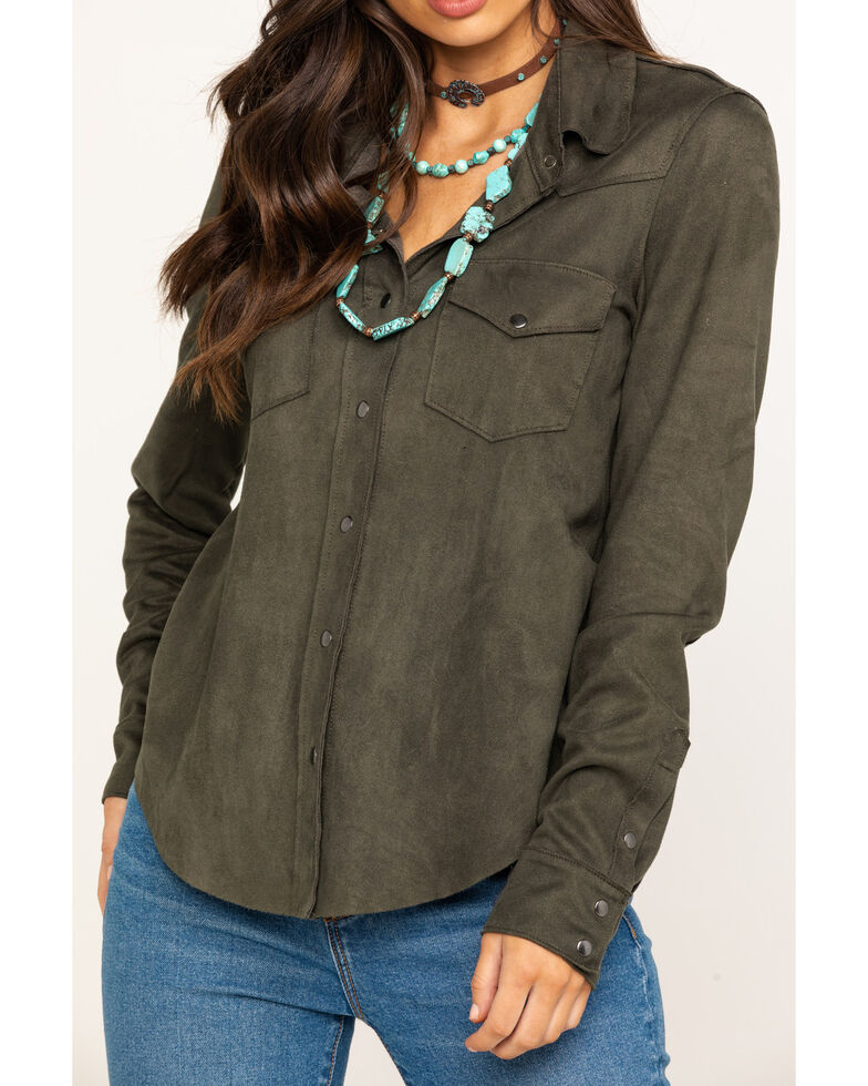 Ariat Women's Olive Serena Long Sleeve Western Shirt, , hi-res