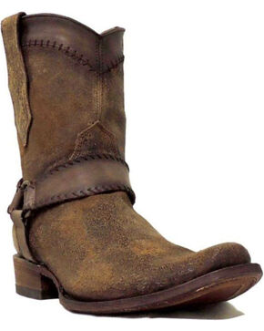 Corral Men's Cognac Harness Ankle Boots - Narrow Square Toe , Cognac, hi-res