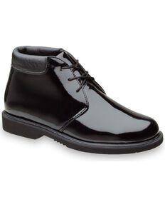 Thorogood Men's Poromeric Academy High Gloss Chukka Work Boots , Black, hi-res