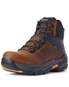 Ariat Men's 360 Stryker Work Boots - Composite Toe, Brown, hi-res