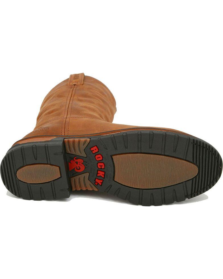 Rocky Men's Branson Roper Waterproof Western Boots, Distressed, hi-res