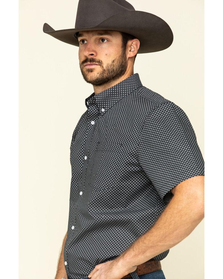 Cody James Core Men's Don't Cross Me Geo Print Short Sleeve Western Shirt , Black, hi-res