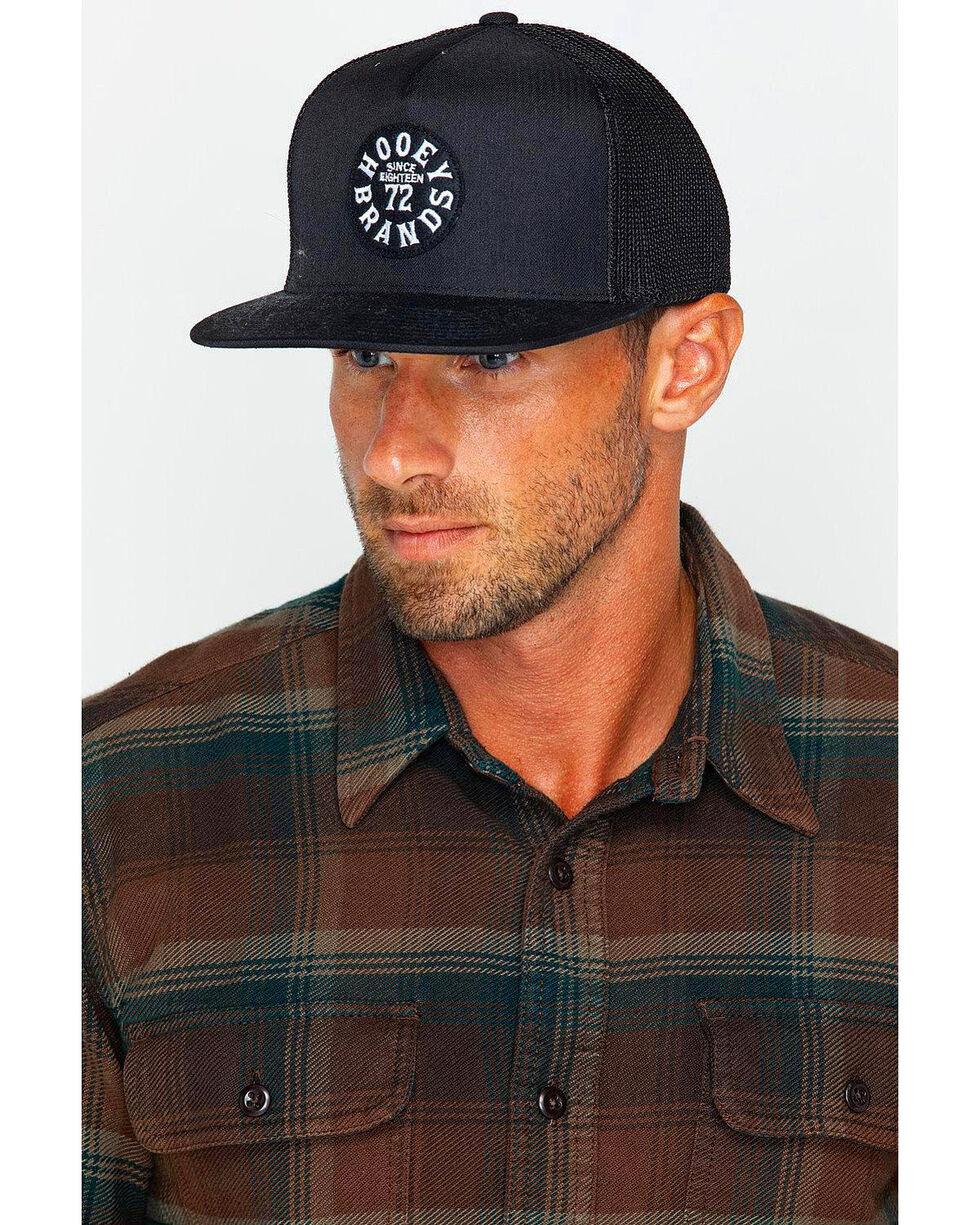 HOOey Men's Black Pioneer Trucker Cap, Black, hi-res