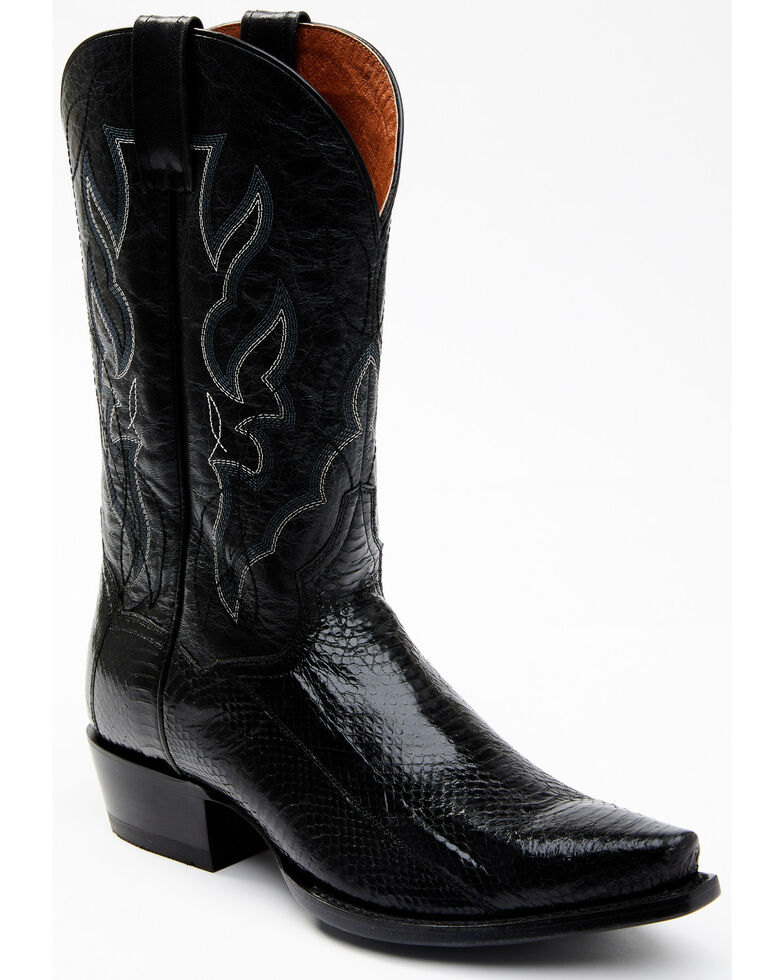 Dan Post Men's Exotic Water Snake Western Boots - Snip Toe, Black, hi-res