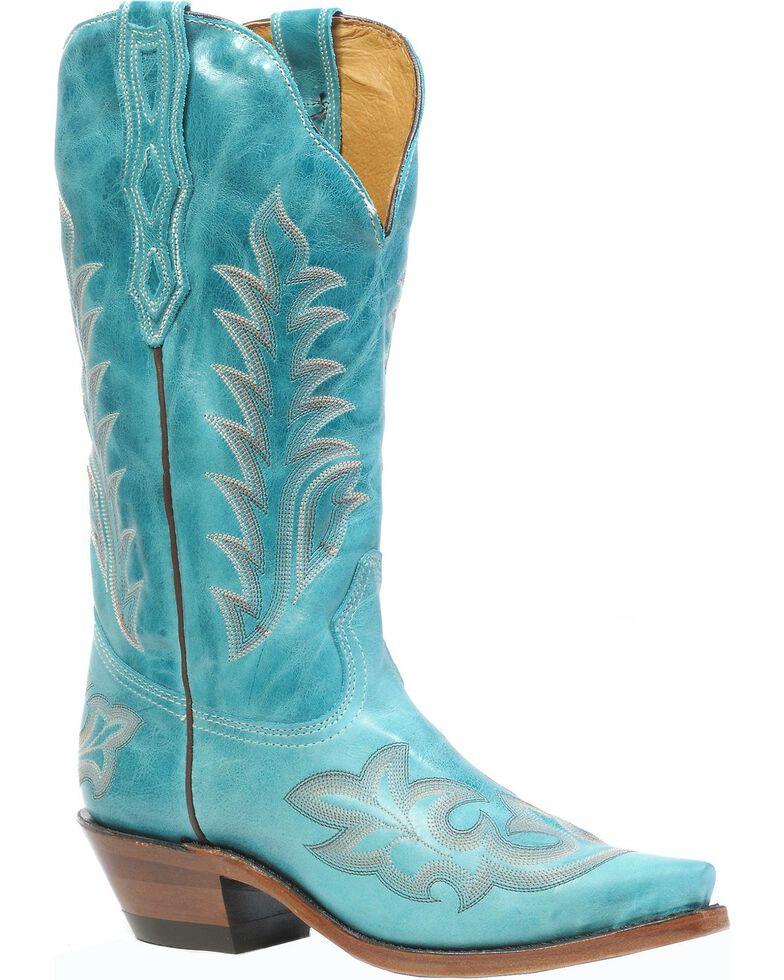 Boulet Men's Deerlite Cowgirl Boots - Snip Toe, Turquoise, hi-res