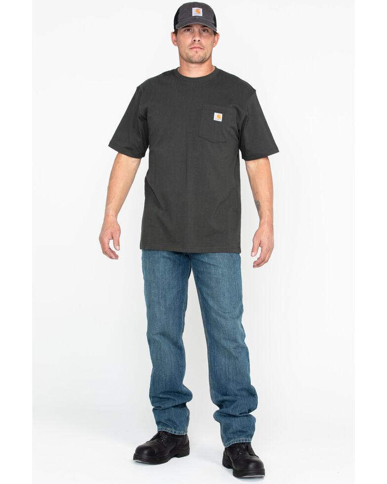 Carhartt Men's Solid Pocket Short Sleeve Work T-Shirt, Bark, hi-res