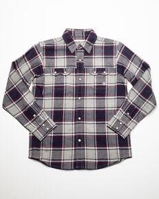 Ariat Boys' Falkin Retro Plaid Snap Long Sleeve Western Flannel Shirt , Multi, hi-res