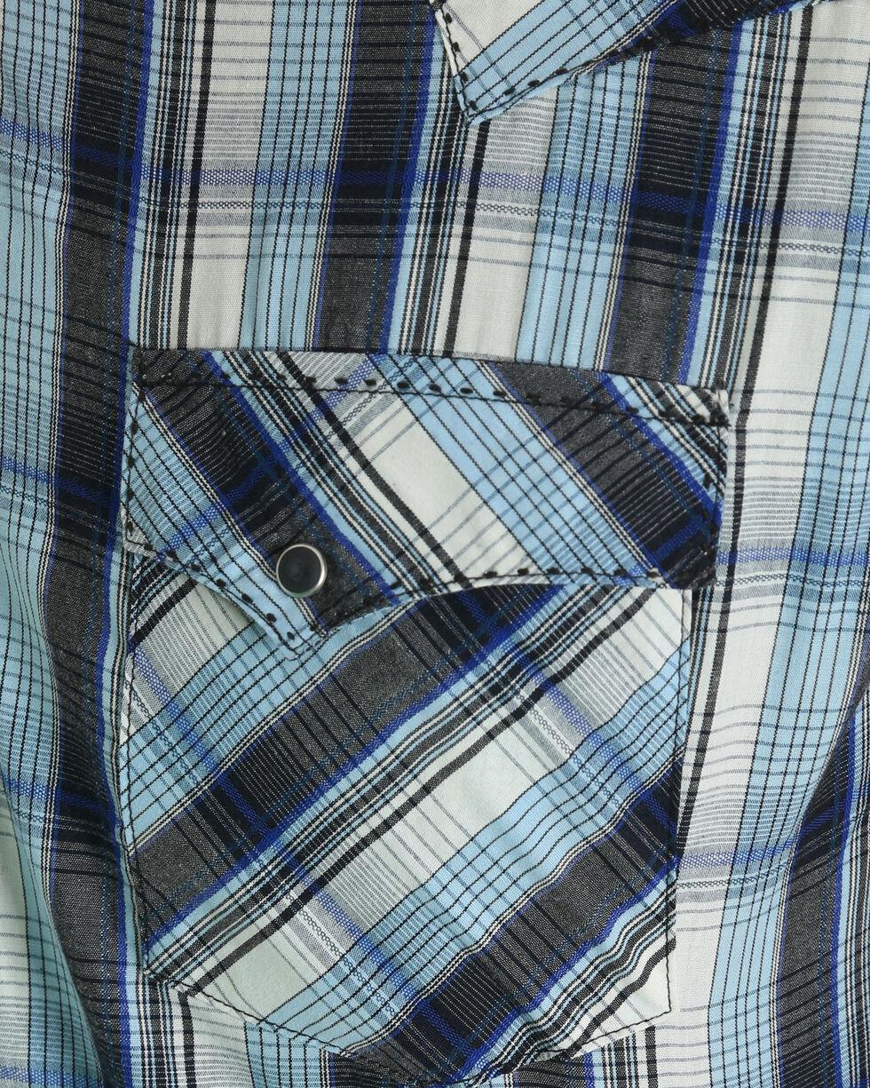Wrangler Men's Blue Plaid Fashion Western Shirt , , hi-res