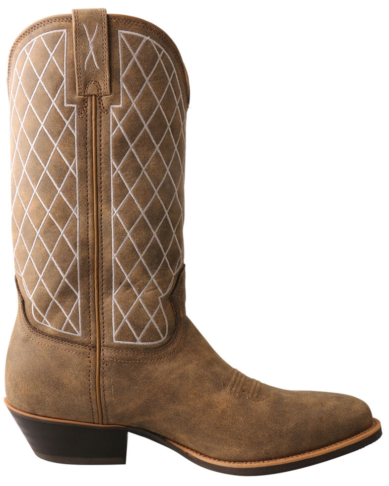 Twisted X Men's Bomber Western Boots - Round Toe, Brown, hi-res