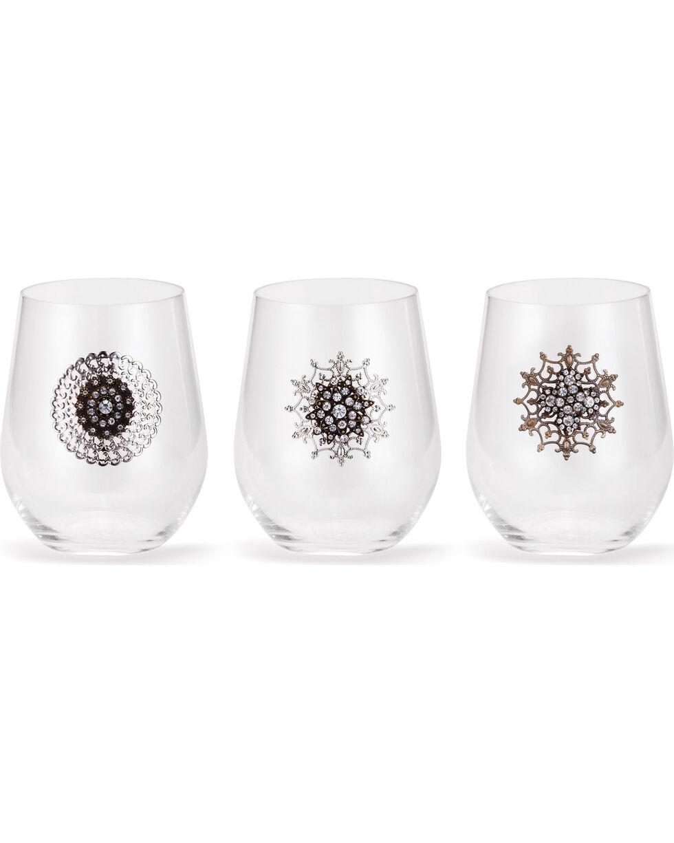 Demdaco Embellished Cocktail Glasses - 3 Assorted , No Color, hi-res