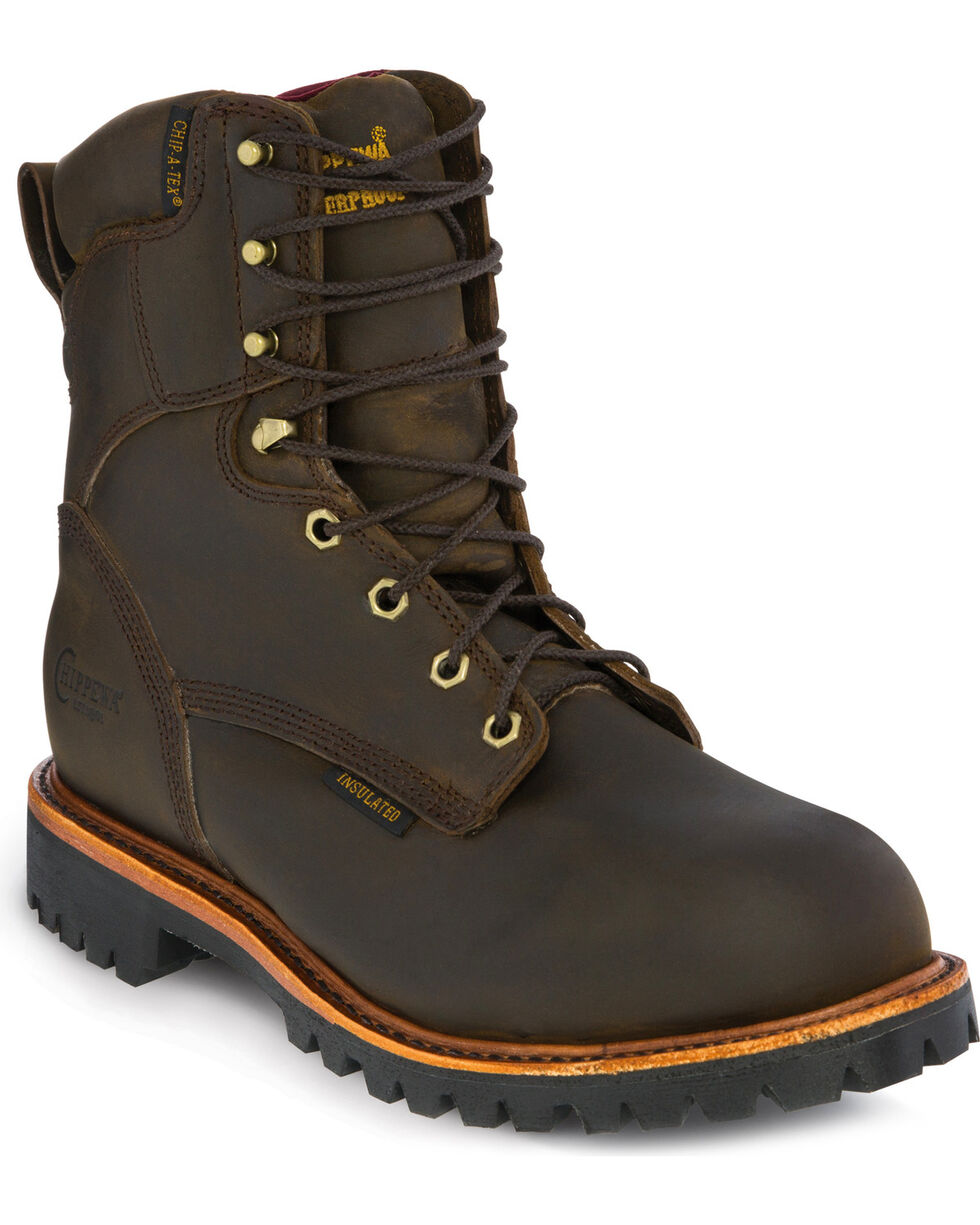 Chippewa Men's Insulated Waterproof Steel Toe Utility Work Boots, Bay Apache, hi-res