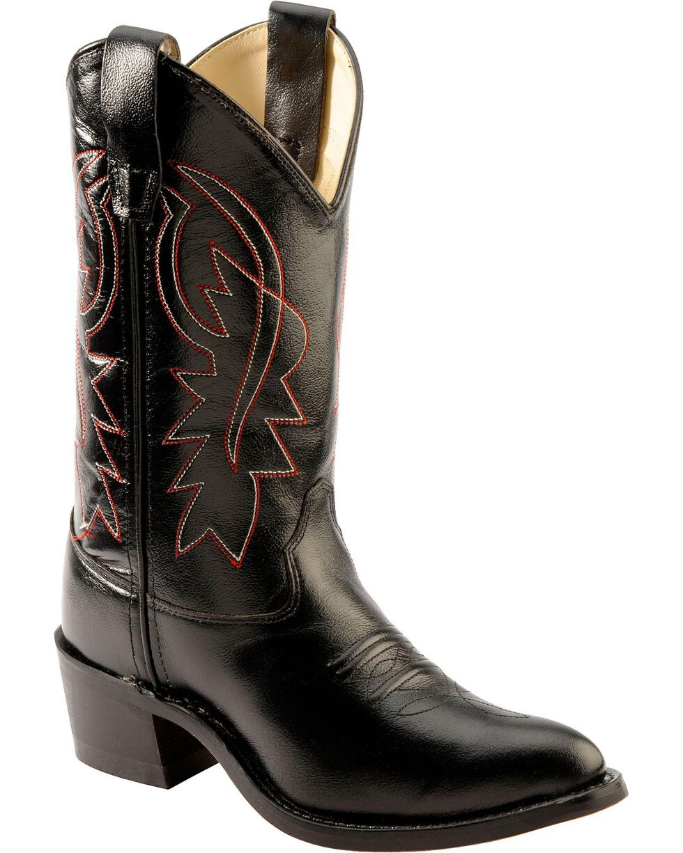 Cody James® Kid's Western Boots, Black, hi-res