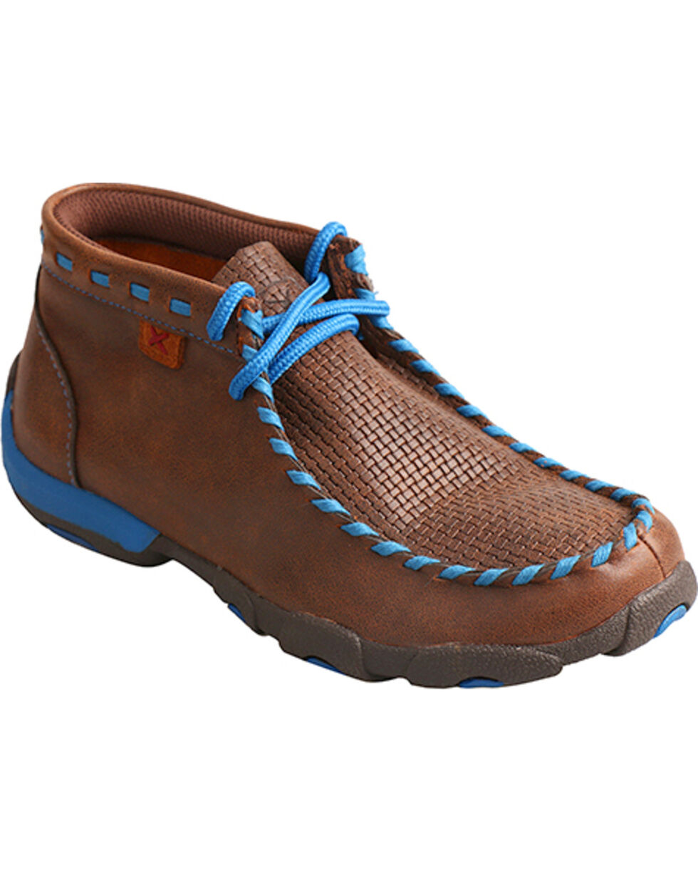 Twisted X Kids' Woven Driving Mocs, Brown, hi-res
