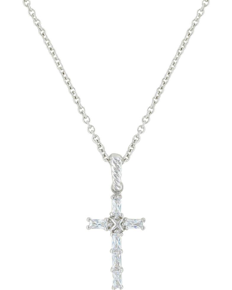 Montana Silversmiths Women's Acadian Cross Necklace, Silver, hi-res