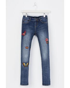 Miss Me Girls' Fly Free Skinny Jeans, Indigo, hi-res