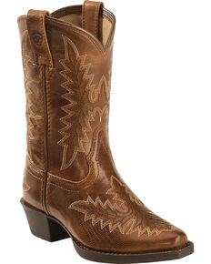 Ariat Youth Girls' Brooklyn Western Boots, Tan, hi-res