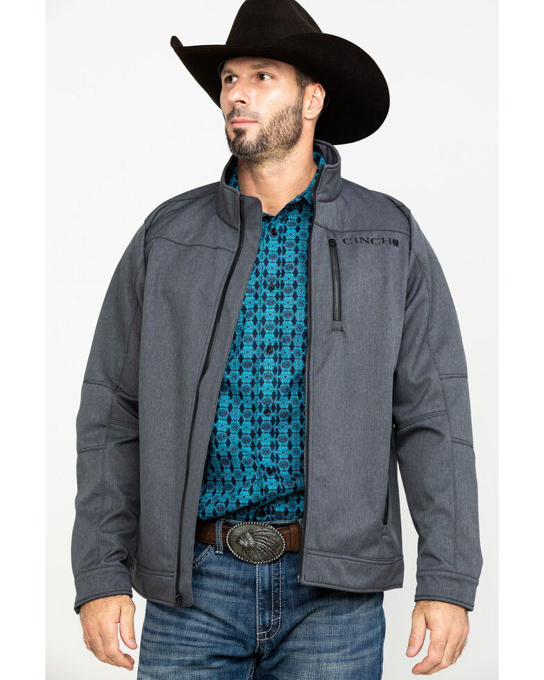 Cinch Men's Textured Fleece Lined Jacket , Heather Grey, hi-res