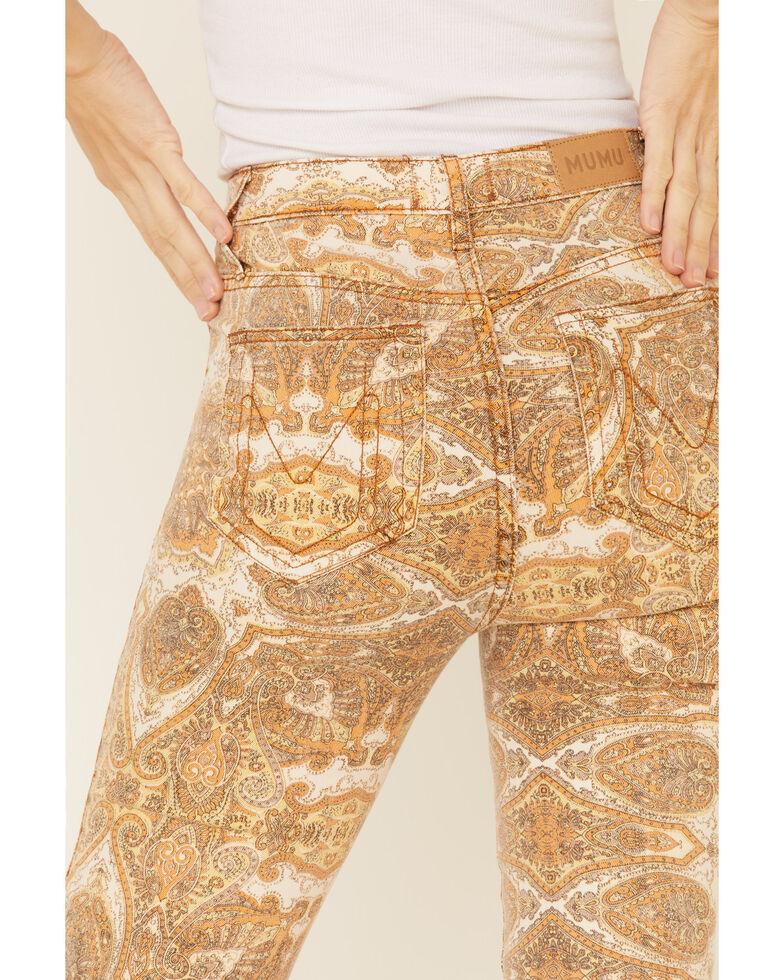 Show Me Your Mumu Women's Berkeley Paisley Flare Jeans, Gold, hi-res