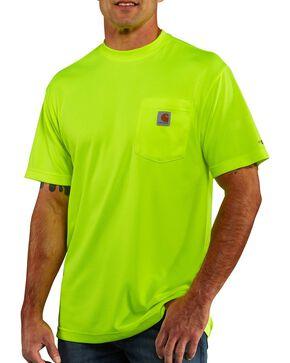 Carhartt Men's Short Sleeve Color Enhanced Force T-Shirt, Lime, hi-res