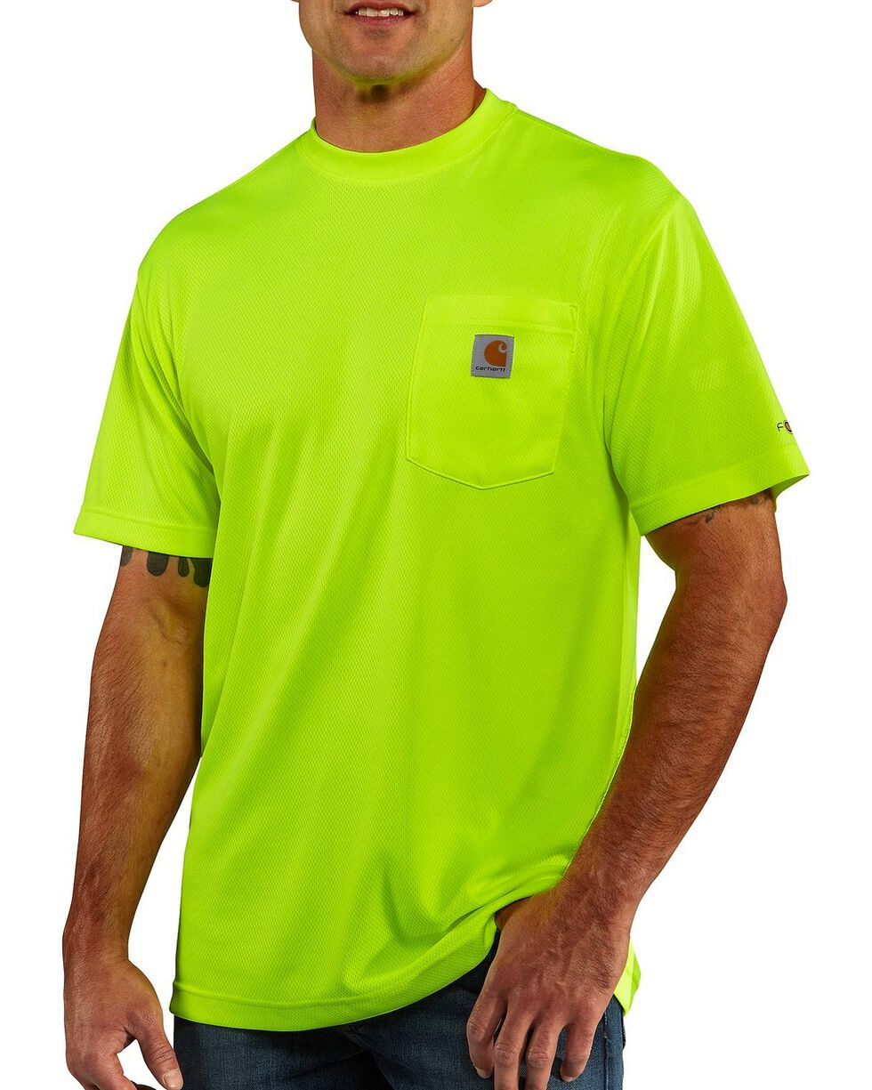 Carhartt Men's Short Sleeve Color Enhanced Force T-Shirt, Lime, hi-res