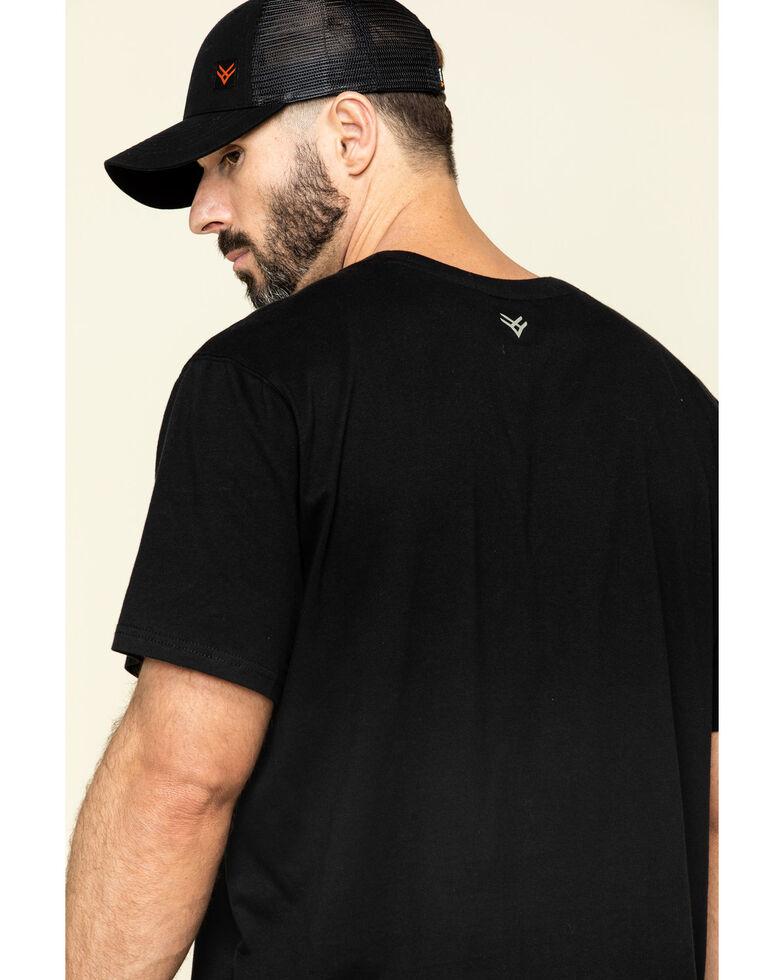 Hawx Men's Black Pocket Crew Short Sleeve Work T-Shirt , Black, hi-res
