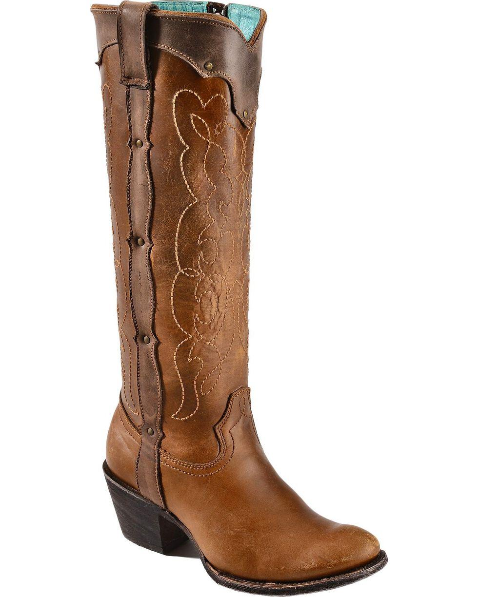 Corral Women's Kat's Westport Round Toe Western Boots, Natural, hi-res