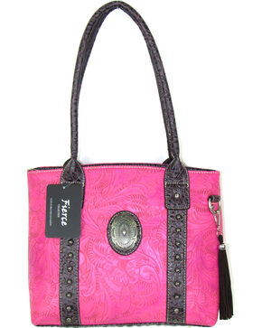 Savana Women's Fierce Tooled Professional Carry Handbag , Hot Pink, hi-res