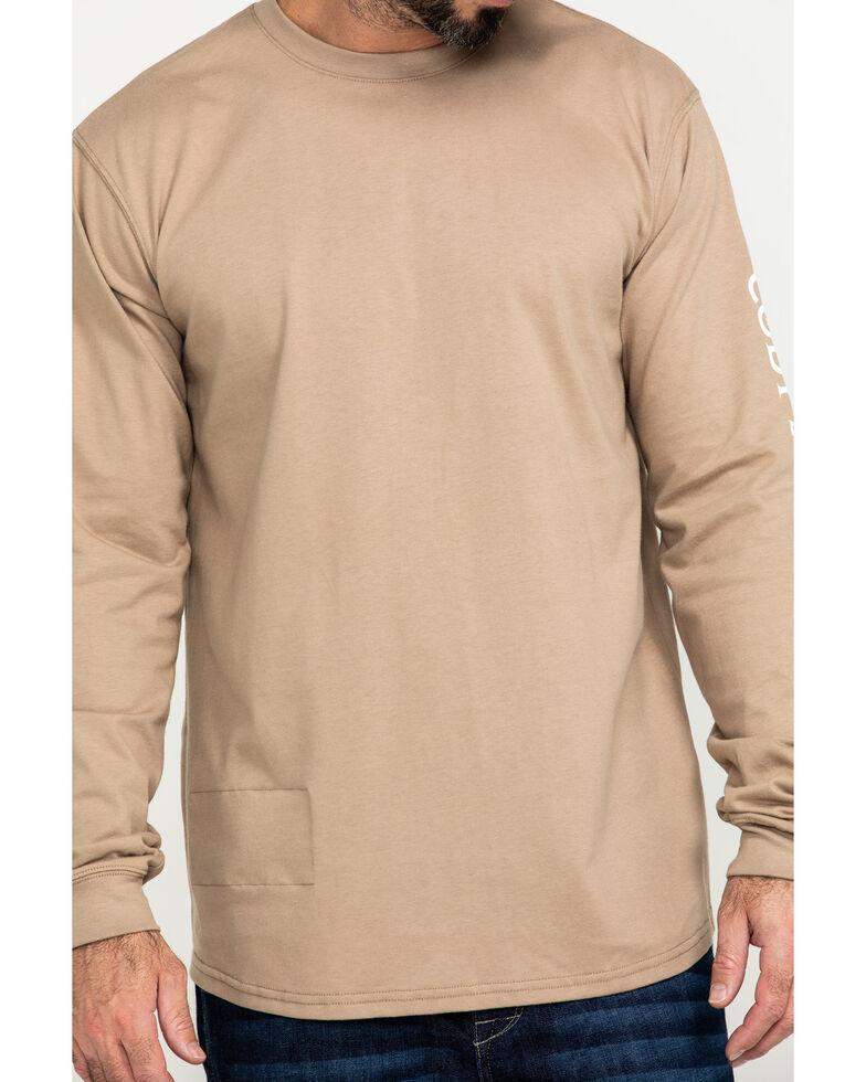 Cody James Men's FR Logo Long Sleeve Work Shirt , Beige/khaki, hi-res