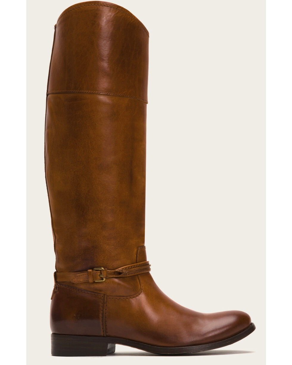 Frye Women's Caramel Melissa Seam Tall Boots - Round Toe, Medium Brown, hi-res