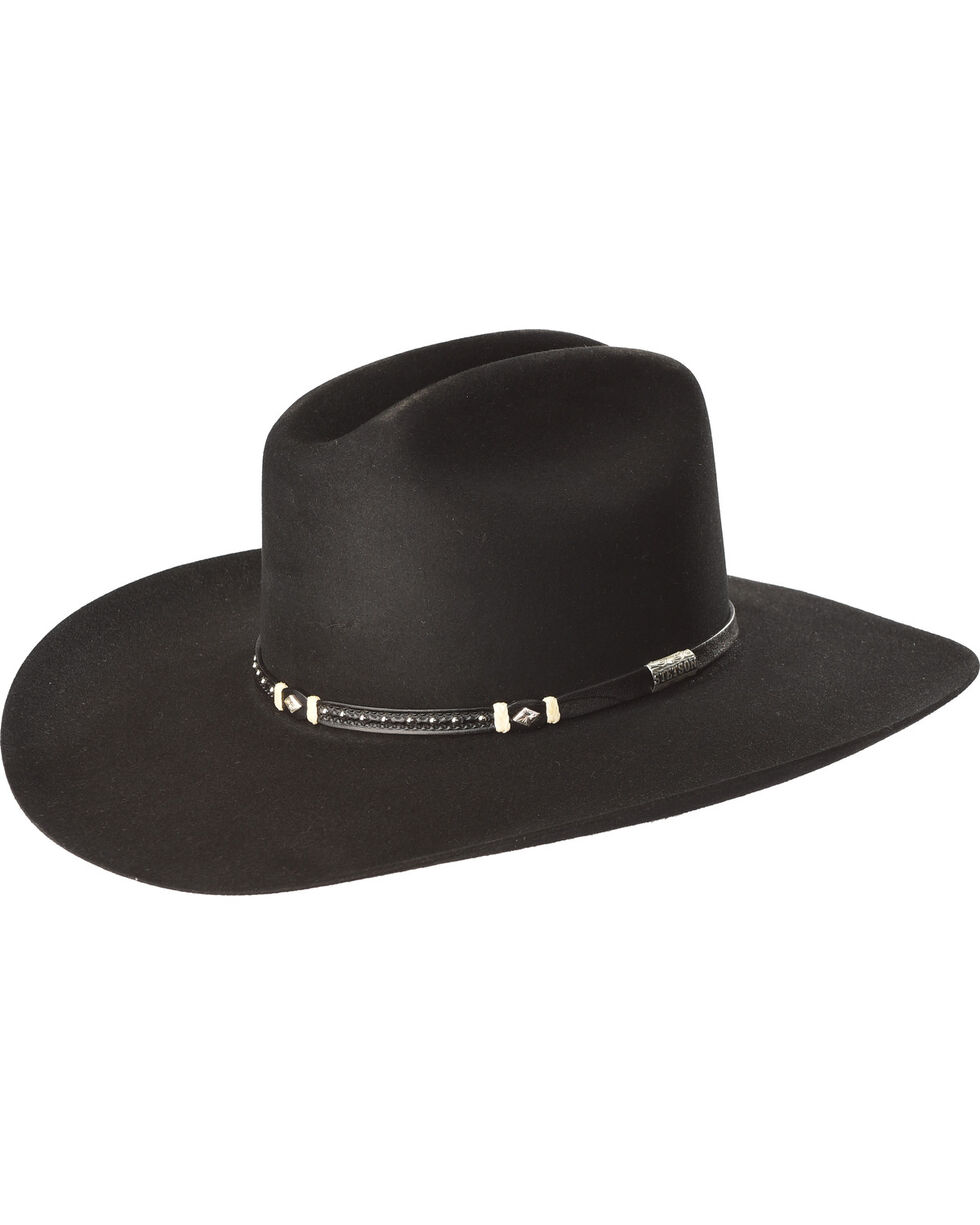Stetson Men's Black Monterey T Felt Cowboy Hat , Black, hi-res