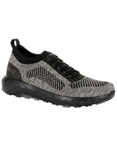 Rocky Men's WorkKnit LX Athletic Work Shoes - Round Toe, Black/brown, hi-res