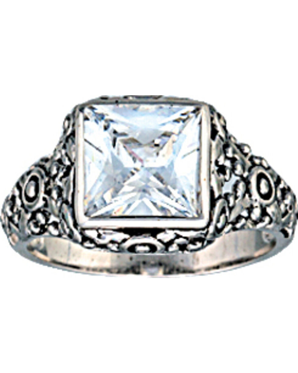 Montana Silversmiths Women's Mountain Princess Solitaire Ring, Silver, hi-res