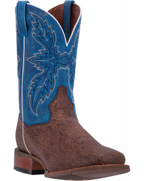 Dan Post Men's Clark Western Boots, Chocolate, hi-res