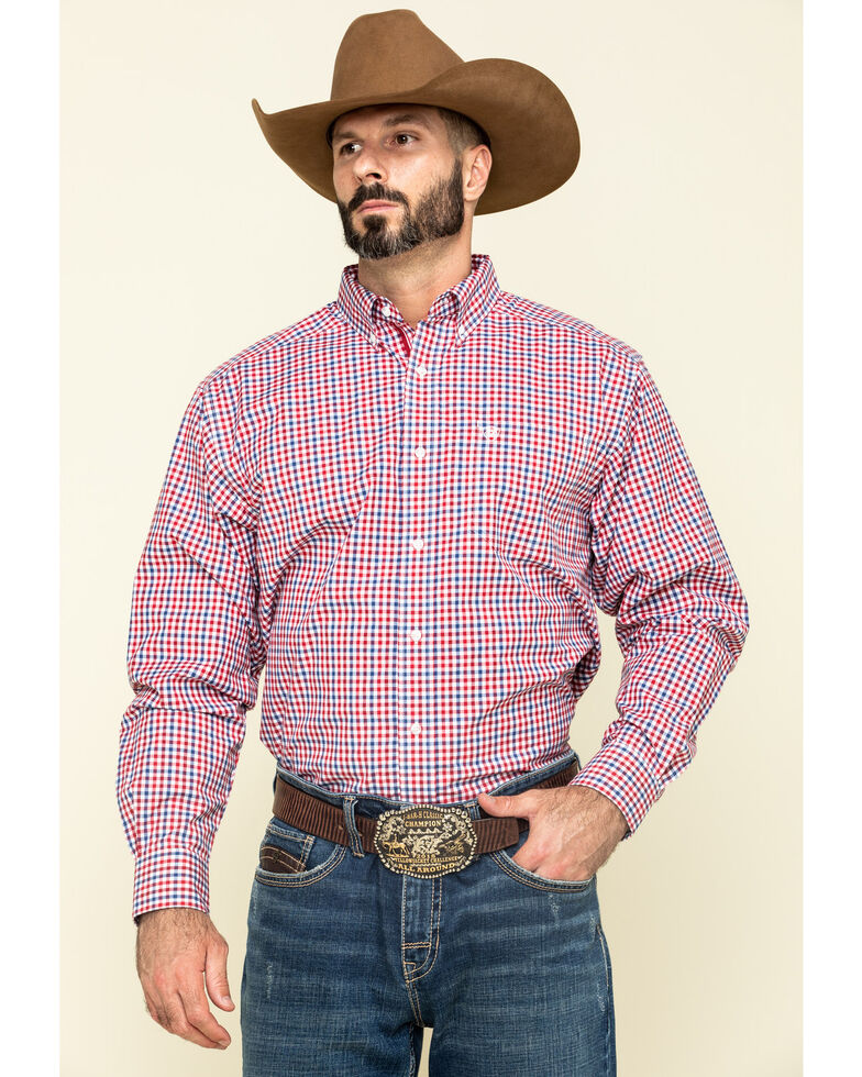 Ariat Men's Tolland Check Plaid Long Sleeve Western Shirt , Multi, hi-res