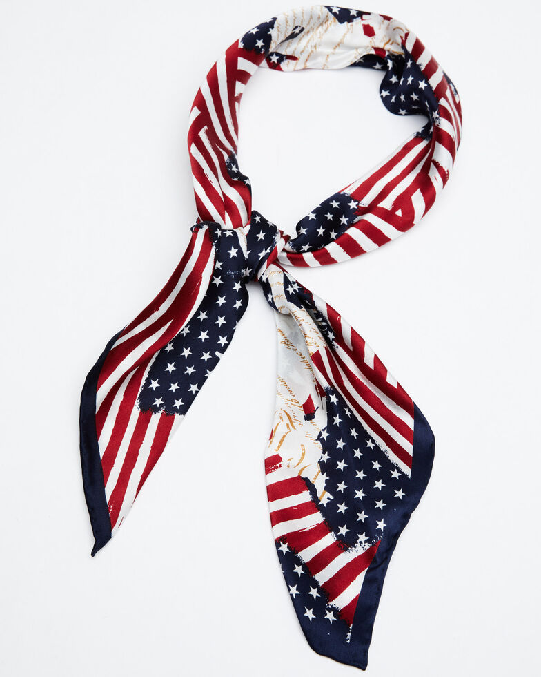 Cody James Men's Americana Wild Rag Scarf, Red/white/blue, hi-res