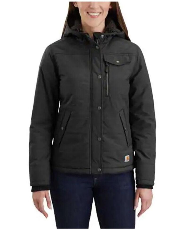 Carhartt Women's Black  Utility Jacket - Plus, Black, hi-res