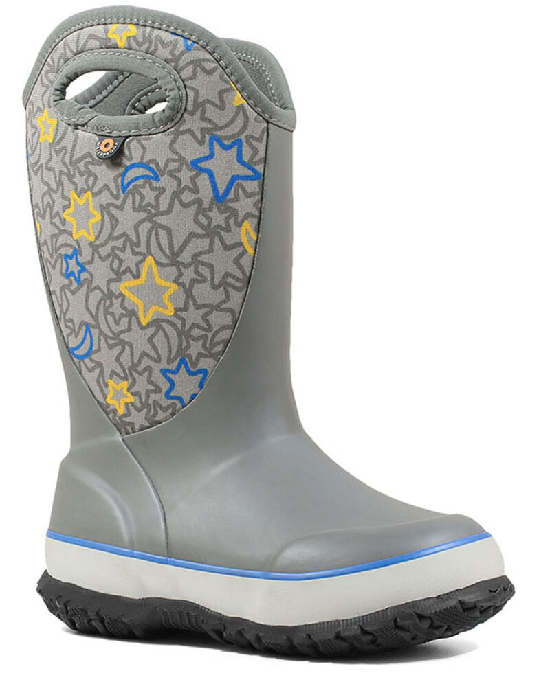 Bogs Girls' Night Sky Slushie Outdoor Boots - Round Toe, Light Grey, hi-res