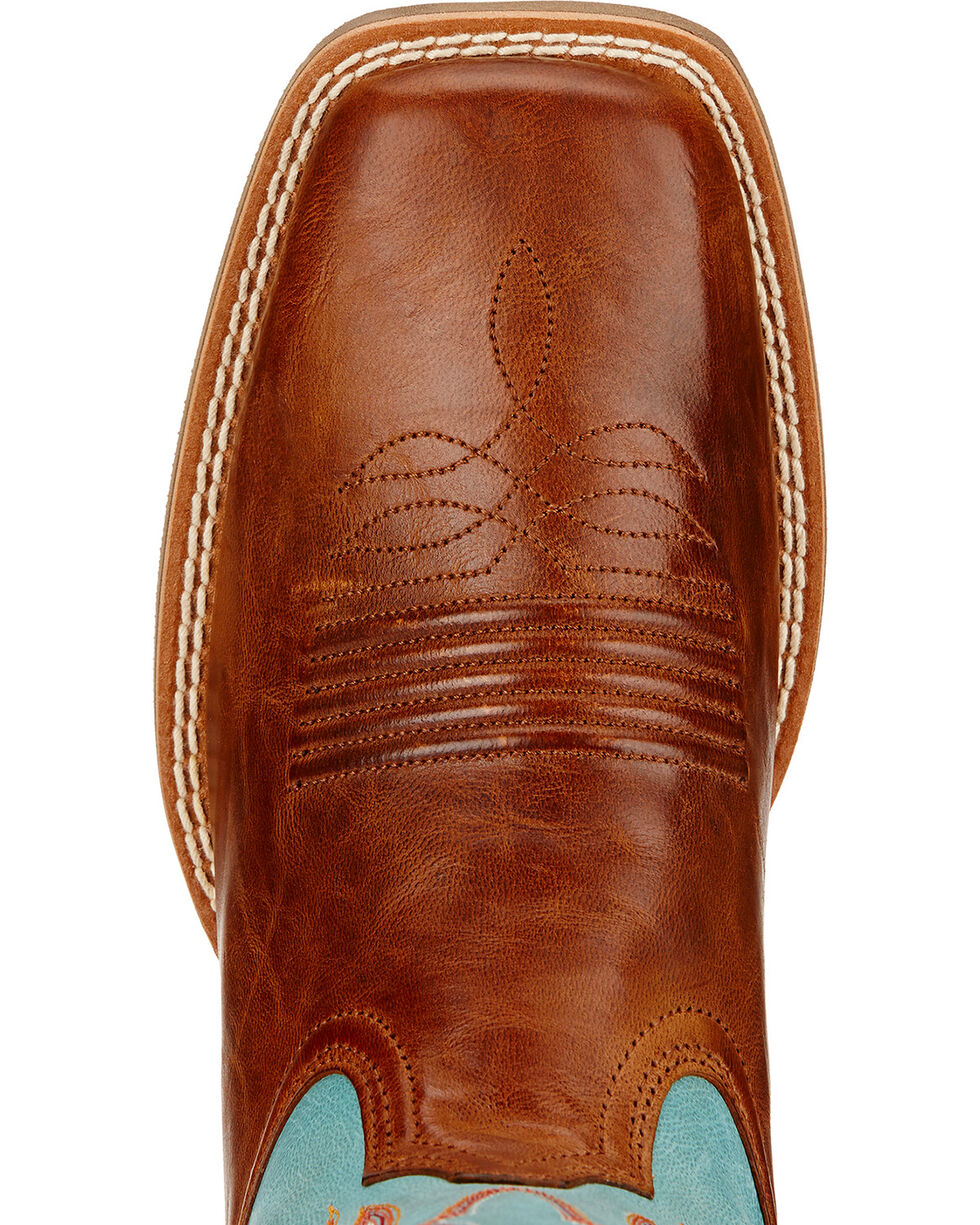 Ariat Women's Round Up Ryder Western Boots, Wood, hi-res