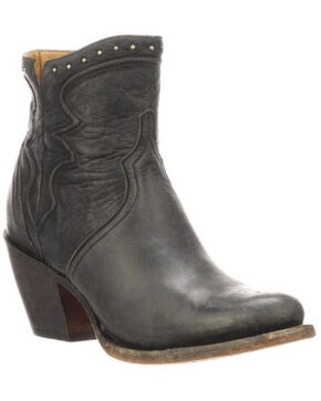 Lucchese Women's Karla Fashion Booties - Round Toe, Black, hi-res