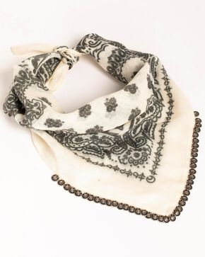 Idyllwind Women's Calamity Jane Bandana Necklace, White, hi-res